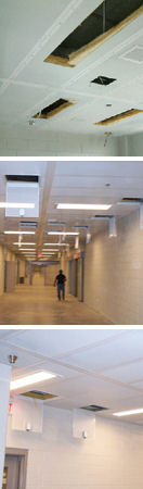 Detention security ceilings